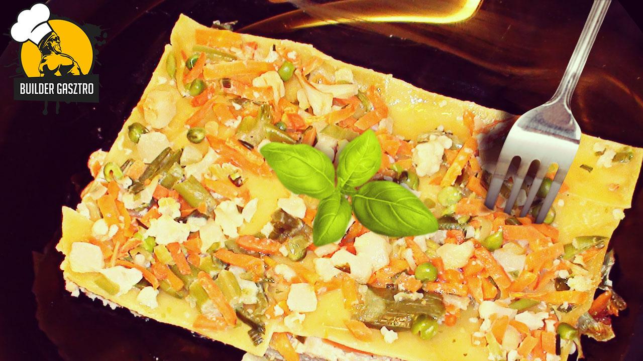 Zöldséges tejszínes lasagne
